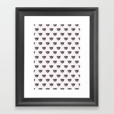 Polka Cat Framed Art Print