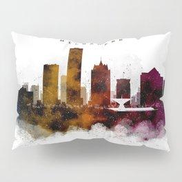 Milwaukee Watercolor Skyline Pillow Sham
