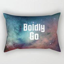 Boldly Go Rectangular Pillow