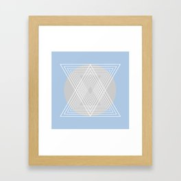 Everything belongs to geometry #7 Framed Art Print