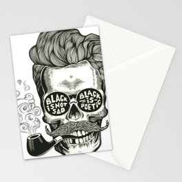 Black is not sad Stationery Cards