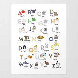 Thumbkins ABC's Art Print