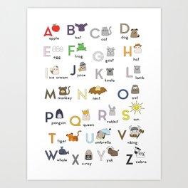 Thumbkins ABC's Art Print