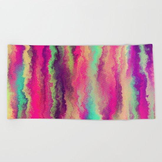 Painted Rainbows 6 Beach Towel