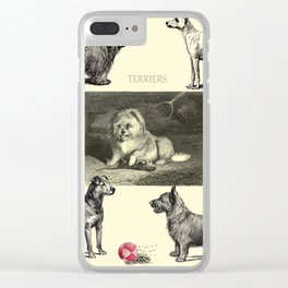 TERRIER DOG Illustration Clear iPhone Case