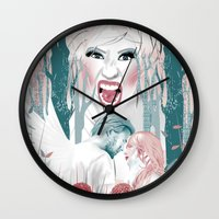 nicki Wall Clocks featuring the love story of Cupid And Psyche - Celebrity Edition by VeePonce