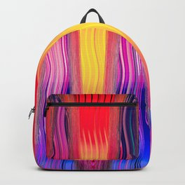 Hot Color Waves Backpack