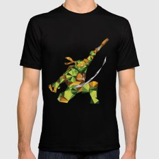 Nunchaku Turtle Black Mens Fitted Tee MEDIUM