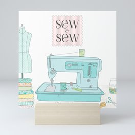 Sew & Sew Mini Art Print