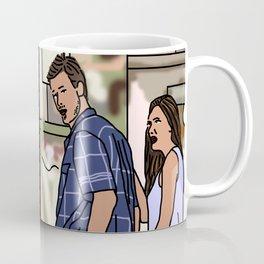 Woman Yelling at Distracted Boyfriend Meme Mash-up Coffee Mug