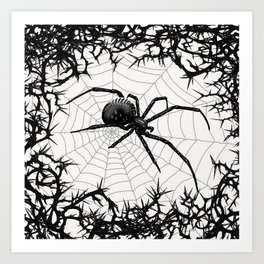 Briar Web- Black and White Art Print