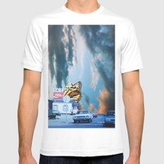 Butterfly Way White MEDIUM Mens Fitted Tee
