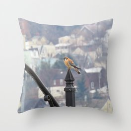 Village Sparrowhawk (Kestrel) 5 Throw Pillow