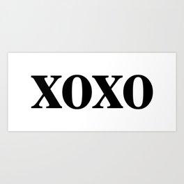 Black XOXO Art Print