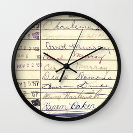 Library Card 780 The Wonderful World of Music Wall Clock