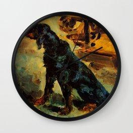 """Henri de Toulouse-Lautrec """"Dun, a Gordon Setter Belonging to Comte Alphonse de Toulouse Lautrec"""" Wall Clock"""