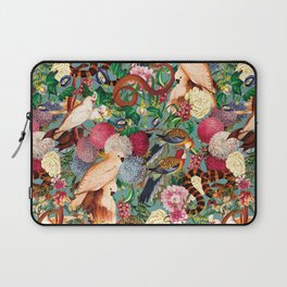 Floral and Animals pattern Laptop Sleeve