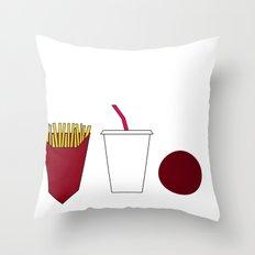 Aqua teen hunger force minimalist  Throw Pillow
