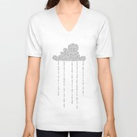 cloud V-neck T-shirts featuring Cloud by RAGAN ILLUSTRATION