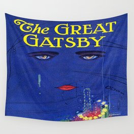 The Great Gatsby vintage book cover - Fitzgerald Wall Tapestry