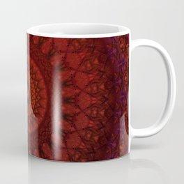 Dark and light red mandala Coffee Mug