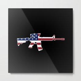 American Flag: M4 Assault Rifle Metal Print