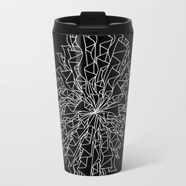 cocoon line art - black Metal Travel Mug