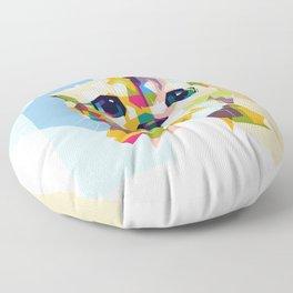 Little colorful cat Floor Pillow
