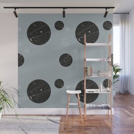 Through the window Gray #pattern Wall Mural