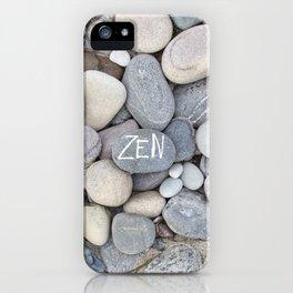 Zen Beach Pebble iPhone Case