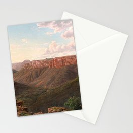 Govett's Leap and Grose River Valley, Blue Mountains, New South Wales by Eu von Guerard Date 1873  R Stationery Cards