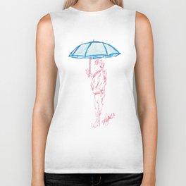 Umbrella man Biker Tank