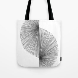 Mid Century Modern Geometric Abstract S Shape Line Drawing Pattern Tote Bag