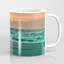Turquoise Ocean Pink Sunset Coffee Mug