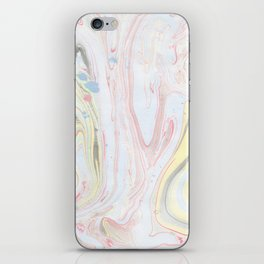 Abstract hand painted watercolor pastel colors marble iPhone Skin