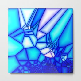 Glowing blue Metal Print