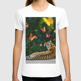 Tiger's Butterfly Friends T-shirt
