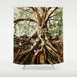 Dwarf Tree House Shower Curtain