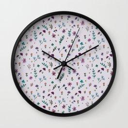 wild flowers pattern Wall Clock