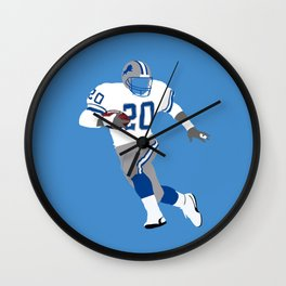 Barry Sanders Wall Clock