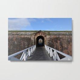 Bridge to Scottish blue skies Metal Print