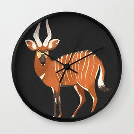 Eastern Mountain Bongo Wall Clock