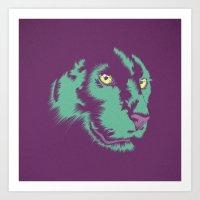 alt j Art Prints featuring Panther Alt by CranioDsgn