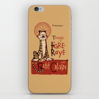 hobbes iPhone & iPod Skins featuring Le Tigre Rayé by Arinesart