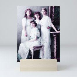 the Romanoff sisters from a group portrait Infrared art by Ahmet Asar Mini Art Print