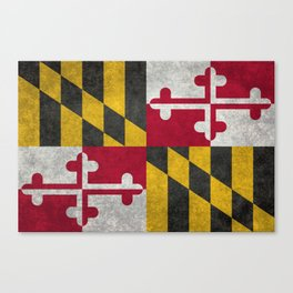 State flag of Flag of Maryland, Vintage retro style Canvas Print