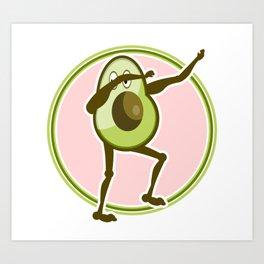 Avocado Dabbing Art Print