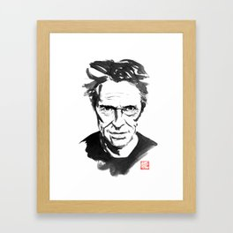 willem dafoe Framed Art Print