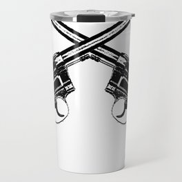 Crossed Revolvers Travel Mug