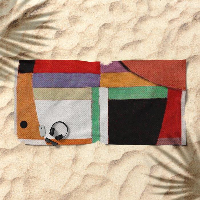 Женщина, яблоко, со змеем (Woman, an apple and the serpent) Beach Towel
